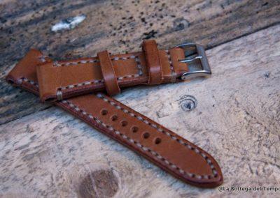 Cinturino Vintage 2 pezzi pelle liscia impunture a vista