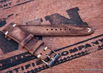 Cinturino Vintage 2 pezzi  in Crosta marrnone punte decorate