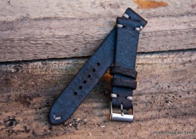 Cinturino Vintage 2 pezzi in crosta nera