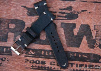Cinturino Vintage 2 pezzi  in Crosta nero