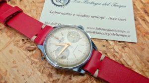 cinturino pelle liscia vintage rosso lorenz