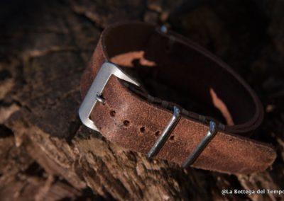 Cinturino Vintage Nato in Crosta marrone