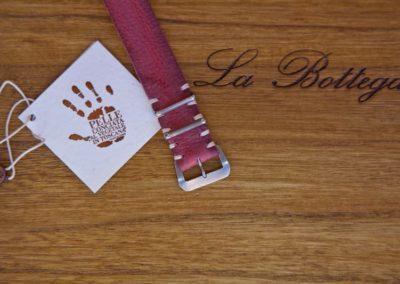 cinturino nato artigianale nabuk pruga - dettaglio