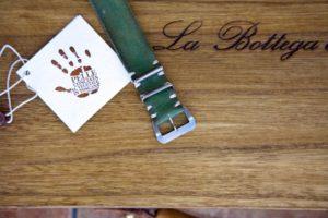 cinturino nato artigianale verde smeraldo