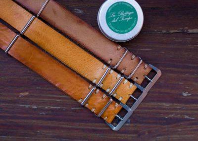 Cinturini Nato Vintage artigianali ocra e varianti