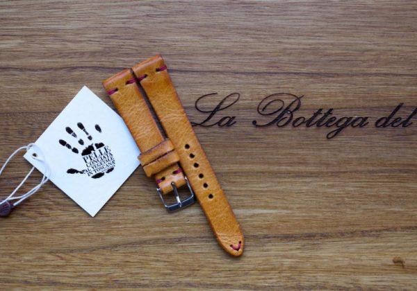cinturino artigianale Ocra brillante