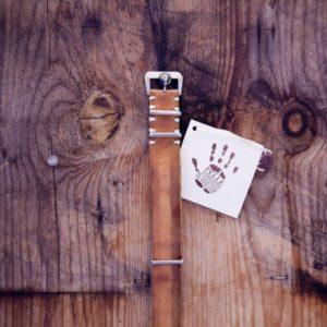 cinturino artigianale - nabuk ocra scuro